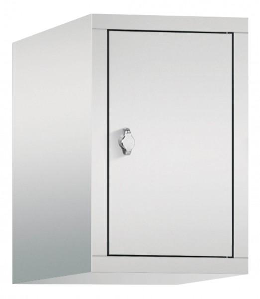Spind Aufsatzschrank Comfort 1 Tür (400mm) Lichtgrau