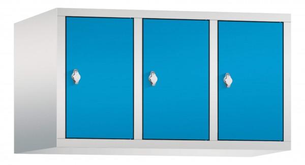 Spind Aufsatzschrank Comfort 3 Türen (300mm) Lichtblau