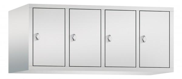 Spind Aufsatzschrank Comfort 4 Türen (400mm) Lichtgrau