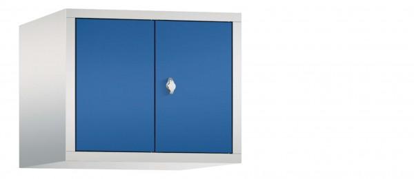 Spind Aufsatzschrank Comfort zueinanderschlagend 2 Türen (300mm) Enzianblau