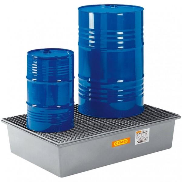 Auffangwanne 220 Liter mit Stahlgitterrost