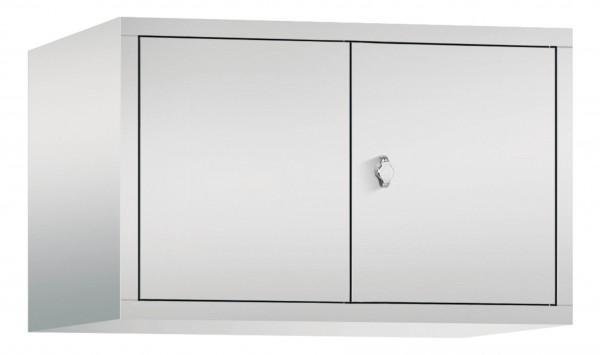 Spind Aufsatzschrank Comfort zueinanderschlagend 2 Türen (400mm) Lichtgrau