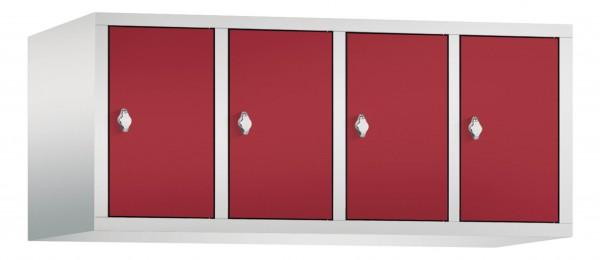 Spind Aufsatzschrank Comfort 4 Türen (400mm) Rubinrot