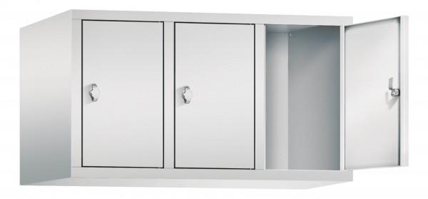 Spind Aufsatzschrank Comfort 3 Türen (400mm) Lichtgrau