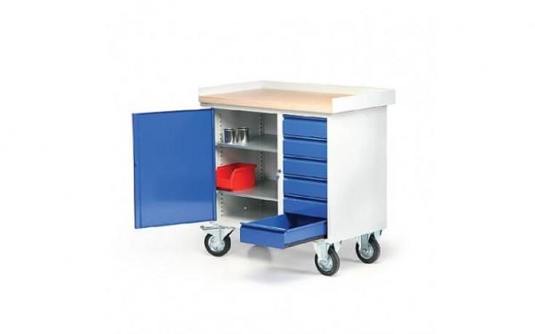 Kleiner Werkbankwagen mit 6 Schubladen