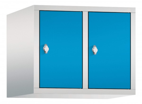 Spind Aufsatzschrank Comfort 2 Türen (300mm) Lichtblau