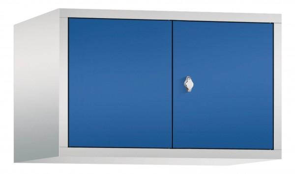 Spind Aufsatzschrank Comfort zueinanderschlagend 2 Türen (400mm) Enzianblau