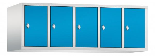 Spind Aufsatzschrank Comfort 5 Türen (300mm) Lichtblau