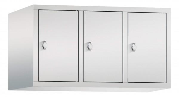 Spind Aufsatzschrank Comfort 3 Türen (300mm) Lichtgrau