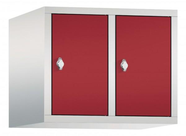 Spind Aufsatzschrank Comfort 2 Türen (400mm) Rubinrot