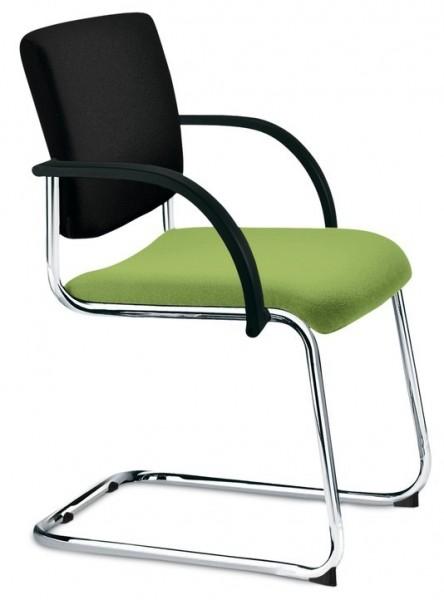 Freischwinger Premium Vollpolster Grün