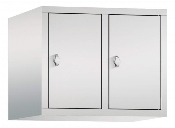 Spind Aufsatzschrank Comfort 2 Türen (300mm) Lichtgrau