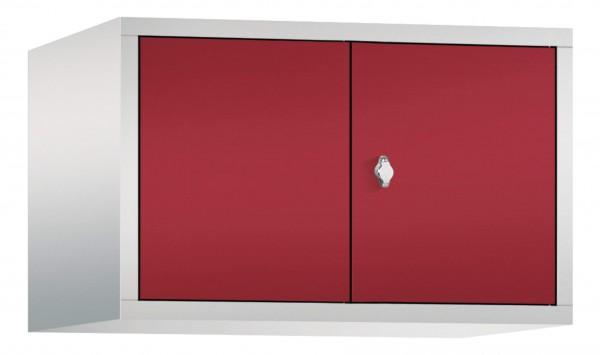 Spind Aufsatzschrank Comfort zueinanderschlagend 2 Türen (400mm) Rubinrot