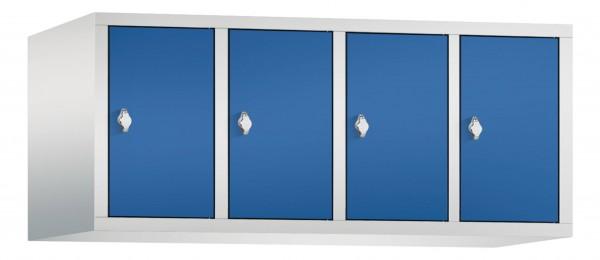 Spind Aufsatzschrank Comfort 4 Türen (400mm) Enzianblau