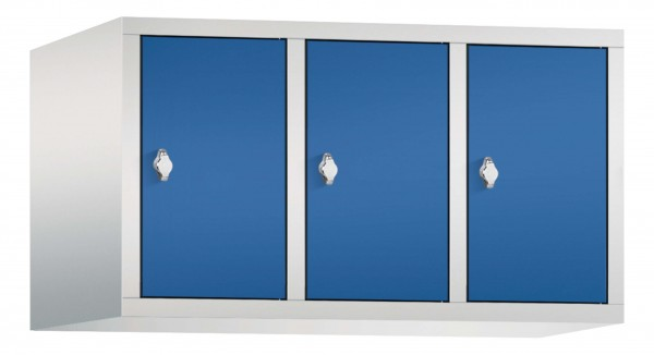Spind Aufsatzschrank Comfort 3 Türen (400mm) Enzianblau