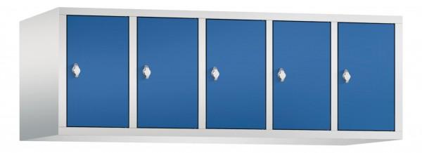 Spind Aufsatzschrank Comfort 5 Türen (300mm) Enzianblau