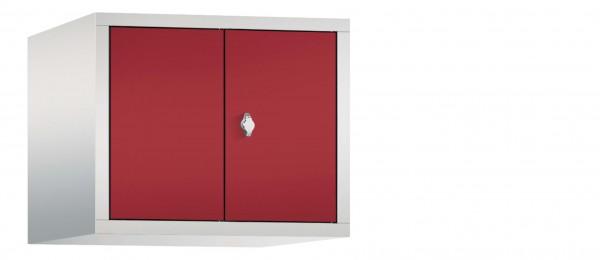 Spind Aufsatzschrank Comfort zueinanderschlagend 2 Türen (300mm) Rubinrot