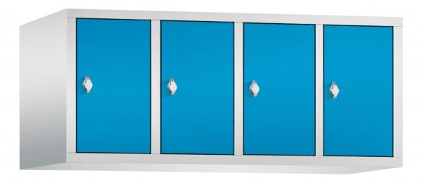 Spind Aufsatzschrank Comfort 4 Türen (400mm) Lichtblau