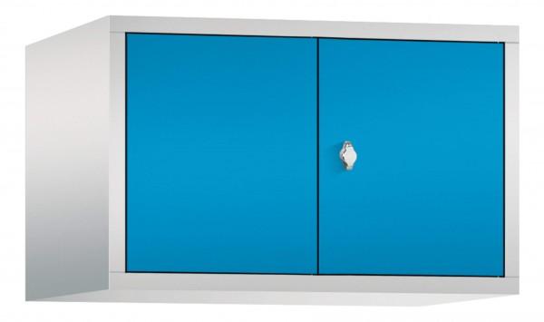 Spind Aufsatzschrank Comfort zueinanderschlagend 2 Türen (400mm) Lichtblau